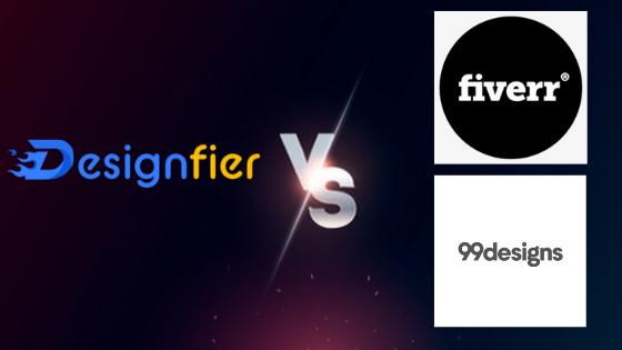 Designfier Vs Fiverr Vs 99Designs