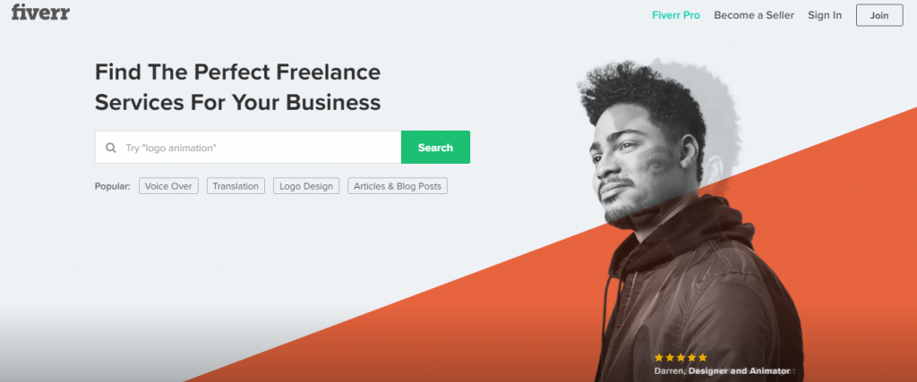 Fiverr - Online graphic design marketplace