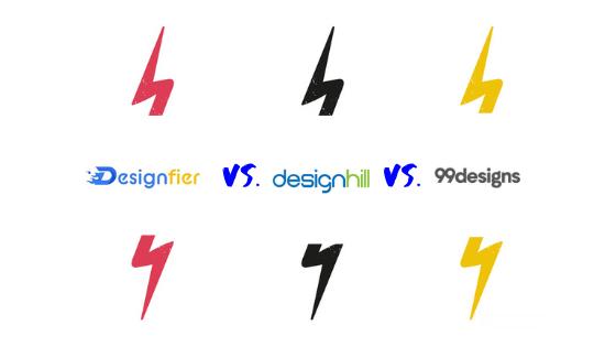 Designfier vs. Designhill vs. 99Designs