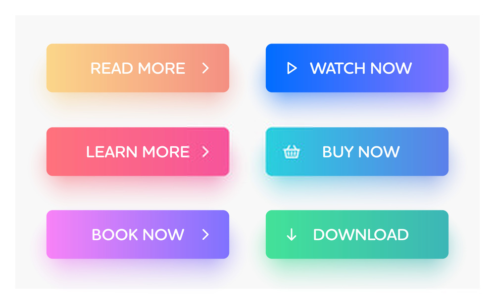 colorful menu website design trends