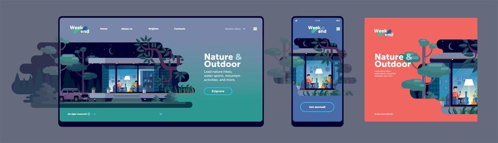 fullscreen website design trends 2020