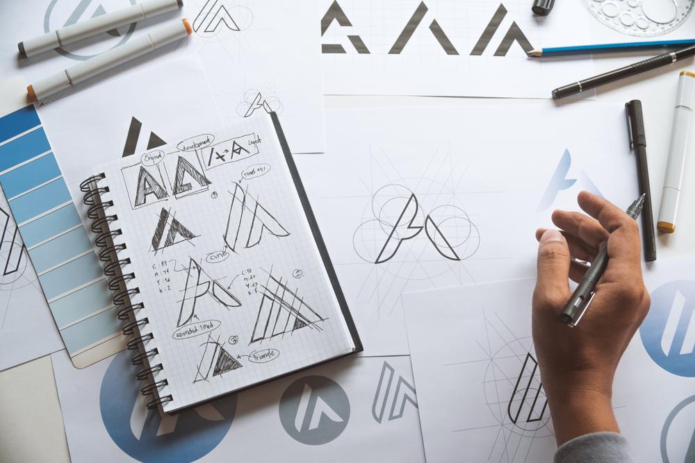 custom logo sketches