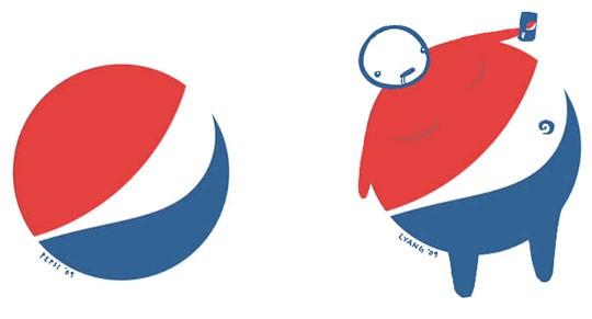 Pepsi Bad Rebranding Logo