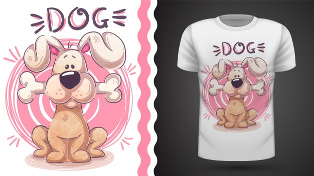 Cartoon Dog T-shirt Design Trends