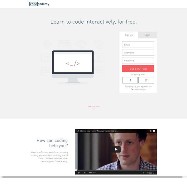 codeacademy landing page design ideas