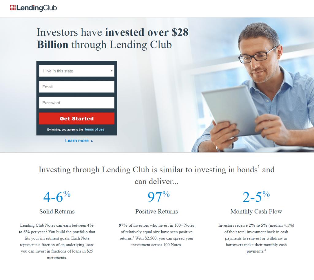 Lending Club Landing Page Design Example