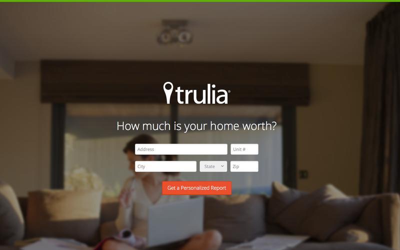 trulia landing page design