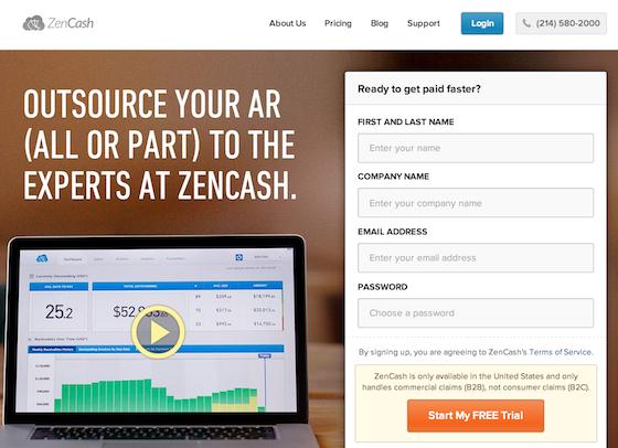 Zencash landing page design