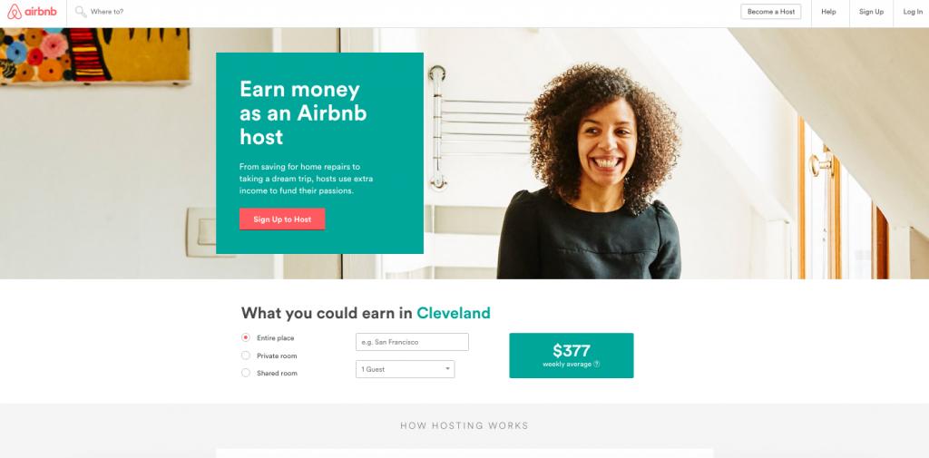 airbnb landing page design