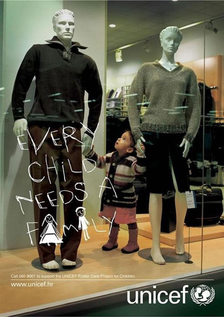 Unicef ad design idea