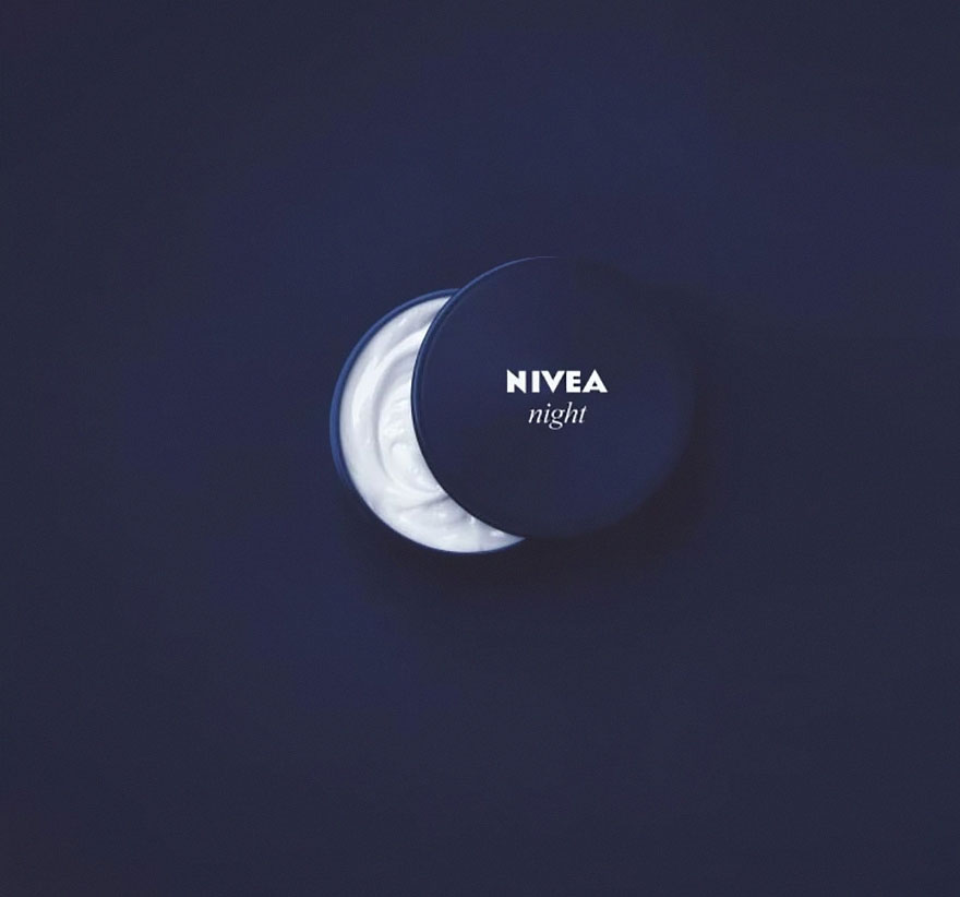 Nivea night cream advertisement design tip