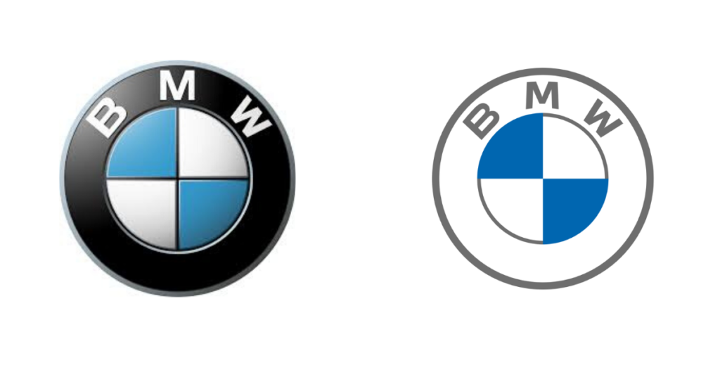BMW logo redesigns