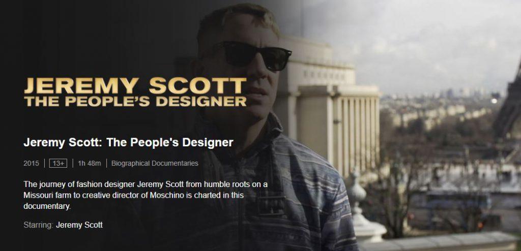 Jeremy Scott - Best Netflix Documentaries For Designers
