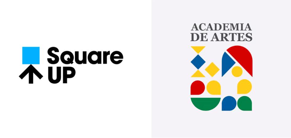 Square modern logo design