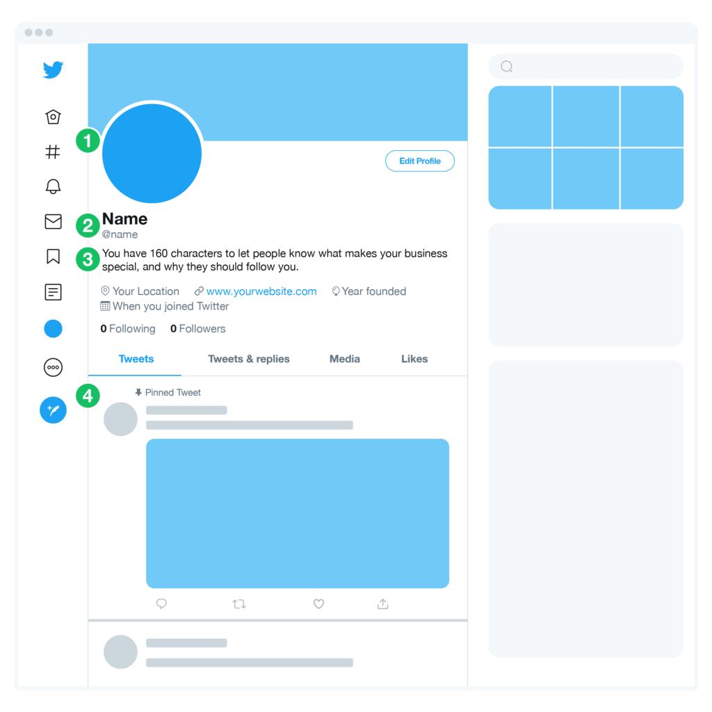 Twitter social Media profile
